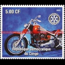 HARLEY DAVIDSON CONGO 2003 Timbre Poste Moto Collection Stamp Stempel Sello