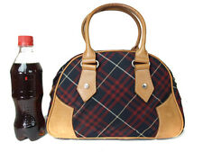 Auth BURBERRY LONDON BLUE LABEL Nylon Canvas, Leather Red, Black Mini Hand Bag