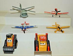 Lot of 6 Disney Pixar Planes Diecast Airplane Mattel toys Fire & Rescue
