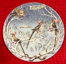 """Haviland Limoges The Twelve Days of Christmas """"Four Coly Birds"""" Plate Noel 1973"""