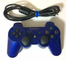 USED PS3 Wireless Controller DUALSHOCK 3 Metallic Blue JAPAN Sony PlayStation 3