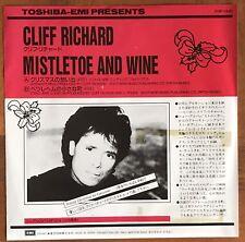"Cliff Richard – Mistletoe And Wine Japan 7"" Vinyl Promo PRP-1446"