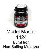 Model Master 1424 Burnt Iron Non-Buffing Metalizer 1/2 oz Lacquer Paint Bottle