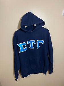 Sigma Tau Gamma Navy Blue College Hoodie - Large