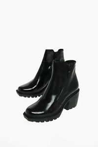 OPENING CEREMONY women Boots Ankle Treaded Rubber Sole Side Zips Black 40 Shoes