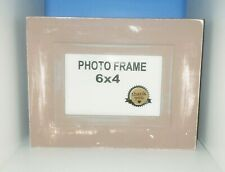 Frame picture vintage shabby chic pink/gray/peach/white cottage hand painted 4x6