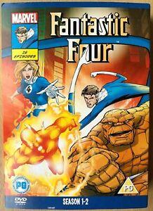 Fantastic Four Seasons 1 + 2 DVD Box Set Marvel Animated TV Series w/ Slipcover