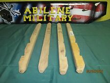 Wood Tent Stake Wooden US Military Heavy Duty 2 FT 24 Inch MIL-P-2383 4 Stakes