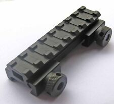 "See-Thru Flat-Top 1/2"" Riser Base w/Picatinny/Weaver Rail 20mm Scope Mount #r11"