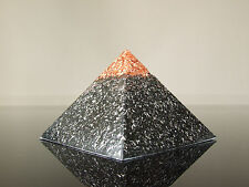 Orgone 23K Or Tenseur Ring Bobine Méditation Pyramide Agate Sunstone AMETRINE Jade