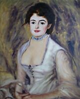 Hand Painted Oil Painting Repro Renoir, Pierre-Auguste Madame Henriot 20x24in