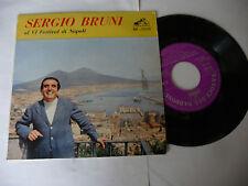 """SERGIO BRUNI""""VI FESTIVAL DI NAPOLI-disco 45 giri EP VOCE PADRONE It 1961"""""""