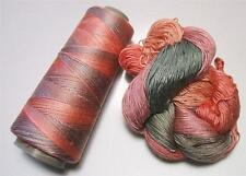 100% Pure Mulberry Queen Lace Silk Yarn 50 gram 3 Ply QS020 Santa Fe Lot C