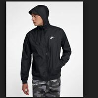 ca8a6f9d NEW MENS 2XL XXL NIKE NSW WINDRUNNER NFS JACKET HOODIE BLACK WHITE 727324  010