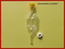 KIT BIRRA : gorgogliatore - air lock con tappino e gommino / guarnizione