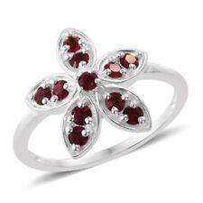 STERLING FLOWER RING WITH SWAROVSKI CODED CRYSTALS #sterlingcrystalrings #rings