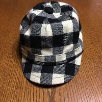 Disney Parks Adult Plaid Hat Adjustable Black White Rhinestones Mickey Mouse