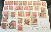 Germany 20pf Stamp Lot (30) Deutsche Bundespost 1954 Series Theodore Heuss Red