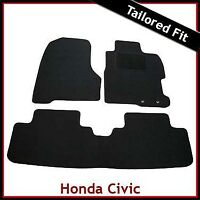 HONDA CIVIC TYPE-R Mk7 2000-2005 Tailored Carpet Car Floor Mats BLACK
