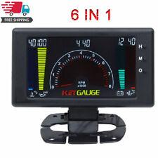 LCD Digital 6 in1 Car Water Oil Temp RPM Tach Meter Volts RPM Oil Pressure Gauge