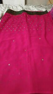Pink Saree With Blouse