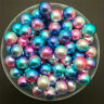 NEW DIY 3/4/5/6/8mm Color Acrylic No Hole Round Pearl Loose Beads Jewelry Making