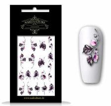 Wasser Tattoo Wrap Blume Sticker Finger NailArt Nagel Aufkleber Design 5065