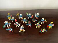 LOT of 16 Vintage Smurf Figures SCHLEICH 70s 80s PVC