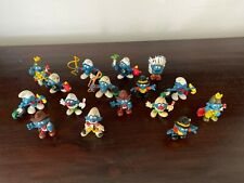 LOT of 16 Vintage Smurf Figures SCHLEICH 70s 80s PVC