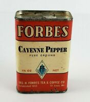 Vintage Forbes Cayenne Pepper Spice Tin Can