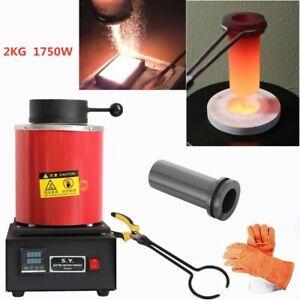2kg Melting Furnace Smelting Furnace for Foundry Metal Smelter Kiln Kit 1750w