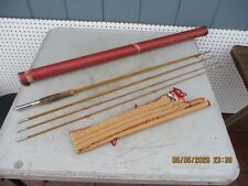 South Bend #57-9 4 Piece Bamboo Fly Fishing Rod with Original Sock and Case