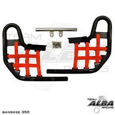 Banshee YFZ 350 YFZ350   Nerf Bars   Alba Racing   Black bar Red nets 207 T1 BR