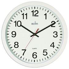 Acctim Black Controller Silent Sweep Wall Clock 368mm 93/704B [ANG33704]