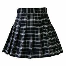 """Mujeres Niña Mini Marinero de cintura alta falda plisada uniforme escolar S-3XL 31.5""""/80C"""