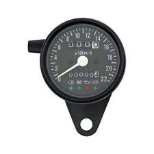 Contachilometri Moto Meccanico Speedometer Spie LED Nero Kawasaki Suzuki Guzzi