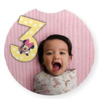 Disney Baby Milestone Month Girls Minnie Mouse 12 Months First Year Photo Number