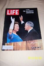 1964 Life REVISTA Arizona SENATOR BARRY GOLDWATER REPUBLICANA CONVENTION gop