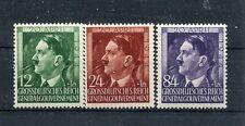 WWII German Polish GeneralGovernment Mi117-9 Hitler 55th birthday 3 stamp set