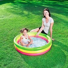 New Bestway Kids Summer Inflatable Paddling Swimming Pool with Inflatable Floor