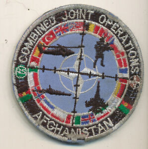 Combined Forces Afghanistan multi-national patch Afghan made