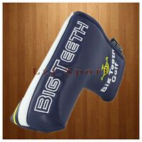 BigTeeth Dark Blue Golf Blade Putter Headcover Magnetic Cover for Scotty Cameron