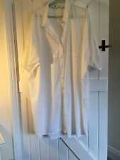 New Look Curve Size 24 White Long Length Blouse Pure Cotton