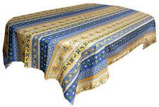 "Le Cluny 60"" x 120"" Rectangular COATED Provence Tablecloth - Monaco Blue"
