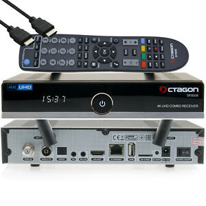 ► OCTAGON SF8008 4K UHD E2 DVB-S2X & DVB-C/T2 Linux Combo Receiver USB WLAN NEU✅