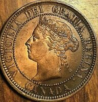 1888 CANADA LARGE CENT PENNY COIN - Excellent example!