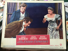 """Under Capricorn 1949 Warner Brothers 11x14""""Alfred Hitchcock lobby card Ingrid Be"""