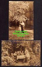 119260 2 AK Himmelkron 1915 Bayreuth Fotokarte Bauernhof Garten Feier Zensur Str