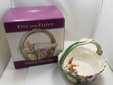 """Fitz & Floyd """"Painting Easter Eggs"""" Basket, with box"""