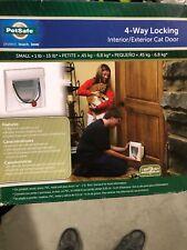 "New! Pet Safe 6-1/4"" x 5-1/2"" 4-Way Locking w/ Tunnel Cat Pet Door, Hpa11-10876"